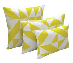Info Specifications European linen is screen printed by Tamasyn and her team in London. Each cushion is made up in the UK by a small British factory and stuffed using feather cushion pads. Yellow Throw Pillows, Toss Pillows, Accent Pillows, Textile Prints, Textile Design, British Home Decor, Yellow Home Accessories, Small Cushions, Cushion Pads
