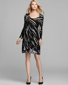 Karen Kane Long Sleeve A-Line Dress | Bloomingdale's