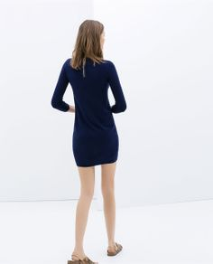 Image 4 of DRESS WITH A BACK ZIP from Zara