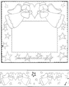 Anjelikovia so srdiečkom Angel Outline, Coloring Books, Coloring Pages, Christmas Stencils, Quilt Labels, Outline Drawings, Christmas Time Is Here, Country Paintings, Scrapbook Templates