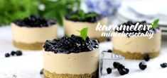 Jablkové tartaletky so slaným karamelom - Coolinári Mini Cheesecakes, Panna Cotta, Food And Drink, Cooking Recipes, Pudding, Tasty, Ethnic Recipes, Sweet, Blog