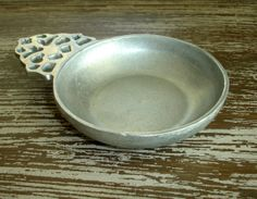 Vintage Children's Porringer, Wilton Armetale Pewter Bowl, Signed RWP, Heirloom Collectible Baby Gift, Primitive Rustic Farmhouse Décor, by ninthstreetvintage, $10.00