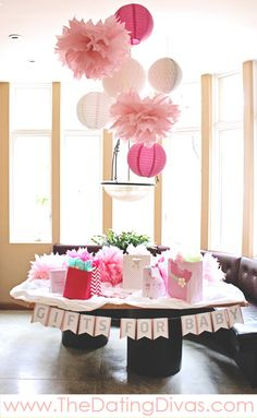 pretty in pink baby shower theme printables
