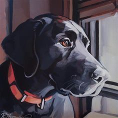 "Daily+Paintworks+-+""Hank+-+Day+17""+-+Original+Fine+Art+for+Sale+-+©+Rachel+Thompson"