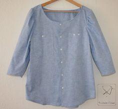 Recyled man's shirt denim tunic
