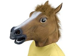 ICYMI: Queenshiny Masque Halloween tête de cheval Gangnam Style en latex: Akord? Technologies rubber horse head mask. The perfect solution…