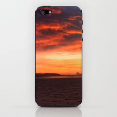 Scarlet Sunrise iPhone & iPod Skin by Fiona & Paul Photography and Digital Art - $15.00
