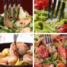 Low-Carb Zucchini Pasta 4 Ways