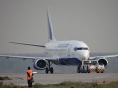 A Transaero Boeing 737 being tugged Illinois, European Airlines, Airbus A380, Moscow, Aviation, Russia, Photo Galleries, Aircraft, Airports
