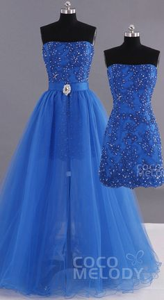 $127. Royal blue #promdress with removable skirt. #cocomelody