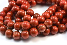 red jasper round 420mm  red gift craft supply by SelectBeads, $3.70