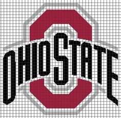 Ohio State Buckeyes Crochet Graphghan Pattern (Chart/Graph AND Row-by ...