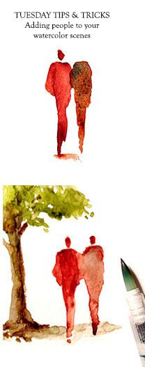 Barbara Weeks' tips for adding scale and character to your scenes by putting people in your sketches. http://urbansketchers-chicago.blogspot.com/2015/05/people-who-need-watercolor-people.html