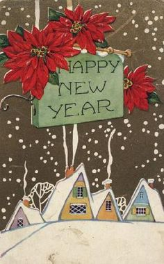 vintage happy new year images | Eagles Wings: New Years Vintage Postcards