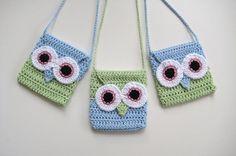 little girl's owl purse Crochet Handbags, Crochet Purses, Crochet Owls, Crochet For Kids, Crochet Crafts, Crochet Baby, Crochet Projects, Single Crochet, Half Double Crochet
