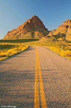 Historic Route 66 as it passes through the Black Mountains near Oatman, Arizona.
