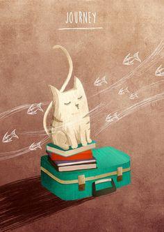 Illustration pack on Behance #CatIllustration