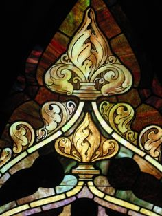 Stained glass window detail. First United Congregational Church of Christ, Portland, OR.