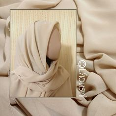 CHIFFON Kopftuch 150 x 150 cm - HELLBRAUN