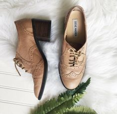 81acc0f05ce Steve Madden Womens Randi Heeled Light Brown Oxfords 8.5  fashion  clothing   shoes