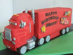 Image result for little boys truck cake