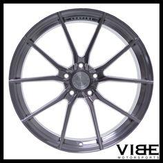 """19"""" 20"""" VERTINI RF1.2 TITANIUM CONCAVE WHEELS RIMS FITS CHEVY C6 Z06 CORVETTE #Vertini #rf1.2 #chevy #corvette #z06 #vibemotorsports"""
