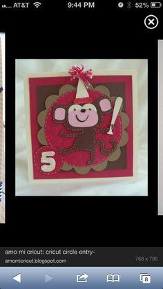 Birthday bash card idea