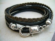 Gold Leather, Leather Jewelry, Leather Men, Leather Bracelets, Tj Maxx, Braided Leather, Women Jewelry, Men's Jewelry, Bracelets For Men