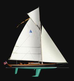 Modern Gaffer from SWW Yacht Design.