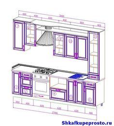 Фото проекта простой прямой кухни.