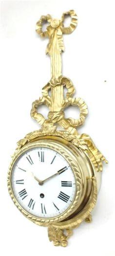 Ormolu Bronze Wall Clock Antique Clocks