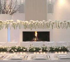 Wow what an amazing table...floating flowers!