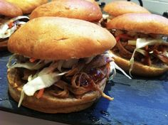 Healthy Slow Cooker Pulled Pork Sandwiches and other ideas for Game Day Eats  / momskitchenhandbook