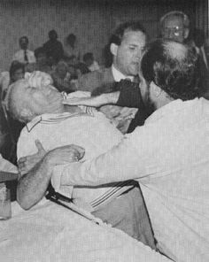 """Mario DeStefano not happy after being found guilty for the murder of Leo Forman. Mario Anthony DeStefano (March 21, 1915 – August 12, 1975) was a """"made"""" member of the Chicago Outfit and a leading loan shark."""