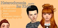 Heterochromia for Kids at Tukete via Sims 4 Updates