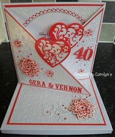 RUBY WEDDING ANNIVERSARY CARD by: carolynshellard