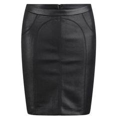 T by Alexander Wang Women's Scuba Pencil Skirt - Black ($245) via Polyvore