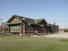Santa Fe Train Depot in Halstead, Kansas was built in 1917 and ceased railroad operations in the 70s.