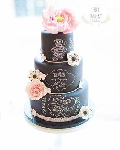 Black wedding cake inspiration. Cake: Silly Bakery Cakes Location : Netherlands _________________________________ . . . . #Weddingday #Weddingphoto #Weddingideas #Foodie #Cake #Weddingcake #Yummy #Ilovefood #Dessert #Chef #Weddingplanner #Weddingcatering #Catering #Cakeinspiration #Cakestagram #Futuremrs #Cupcakes #Eating #Shesaidyes #Engaged #Engagedlife #Eventplanner #Luxurywedding #evedeso #eventdesignsource - posted by Sweet Pink Signature Cakes…