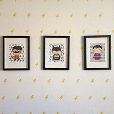 Superhero Print Set of 6 Superhero Wall Art Boys Room Superhero Art Superman Print Batman Print Super Hero Art Instant Download - Batman Printables - Ideas of Batman Printables #batman #printables #batmanprint - Superhero Boys Room, Superhero Wall Art, Superhero Poster, Superman, Batman Art, Nursery Art, Nursery Decor, Superhero Clipart, Amelie