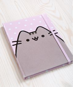 This adorable pink hardcover notebook features Pusheen with fuzzy flocked fur! Pusheen Plush, Pusheen Cat, Pusheen Shop, Decorate Notebook, Diy Notebook, School Stationery, Kawaii Stationery, School Accessories, Locker Accessories