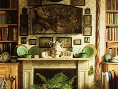English country style...love the picture arrangement.