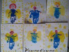 Anges en peinture à la main