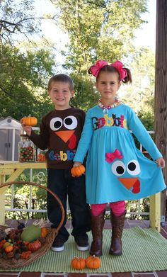 Thanksgiving Goofy Gobble Turkey Dress for by SweetSophiaDesigns