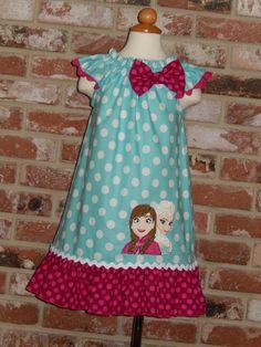 Disney Frozen Elsa Anna Flutter Sleeves Dress by Just4Princess, $35.00