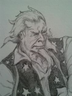 A little more detailed shot of Uncle Sam.