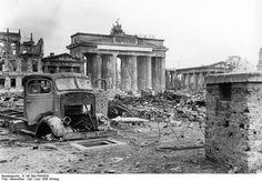 The Brandenburg Gate is one of the most legendary monuments in Europe. Located in the west of Berlin Center, the Brandenburg Gate was inaugurated by King Berlin 1945, Berlin City, Berlin Germany, Germany Area, World History, World War Ii, Greek History, Brandenburg Gate, The Third Reich