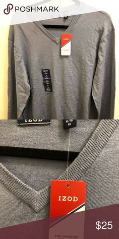 IZOD Fieldhouse V Neck Long Sleeve Sweater Product Description Sleeve Length: Long Sleeve Fit: Classic Fabric Content: 60% Cotton, 40% Acrylic Neckline: V Neck Care: Machine Wash, Tumble Dry Country of Origin: Imported Izod Sweaters V-Neck