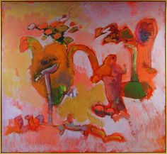 John Altoon (1925-1969) was one of the remarkable characters in the southern California art scene in the 1950s and 60s. His first paintings were created in an Abstract Expressionist style, later acquiring a more personal, figurative style. Altoon placed equal importance on line and color, expressed in biomorphic shapes and abstract forms. One of the paintings from his well-known Hyperion Series is represented in the Gerard L. Cafesjian Collection.