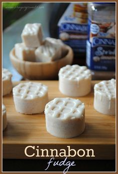 This is an easy dessert recipe we can get behind. It's our favorite flavor, made with fudge! If you are enchanted by food court favorite picks, this recipe for Cinnabon Fudge might just blow your mind. Fudge Recipes, Candy Recipes, Sweet Recipes, Köstliche Desserts, Delicious Desserts, Dessert Recipes, Sweet Desserts, Dessert Healthy, Yummy Food